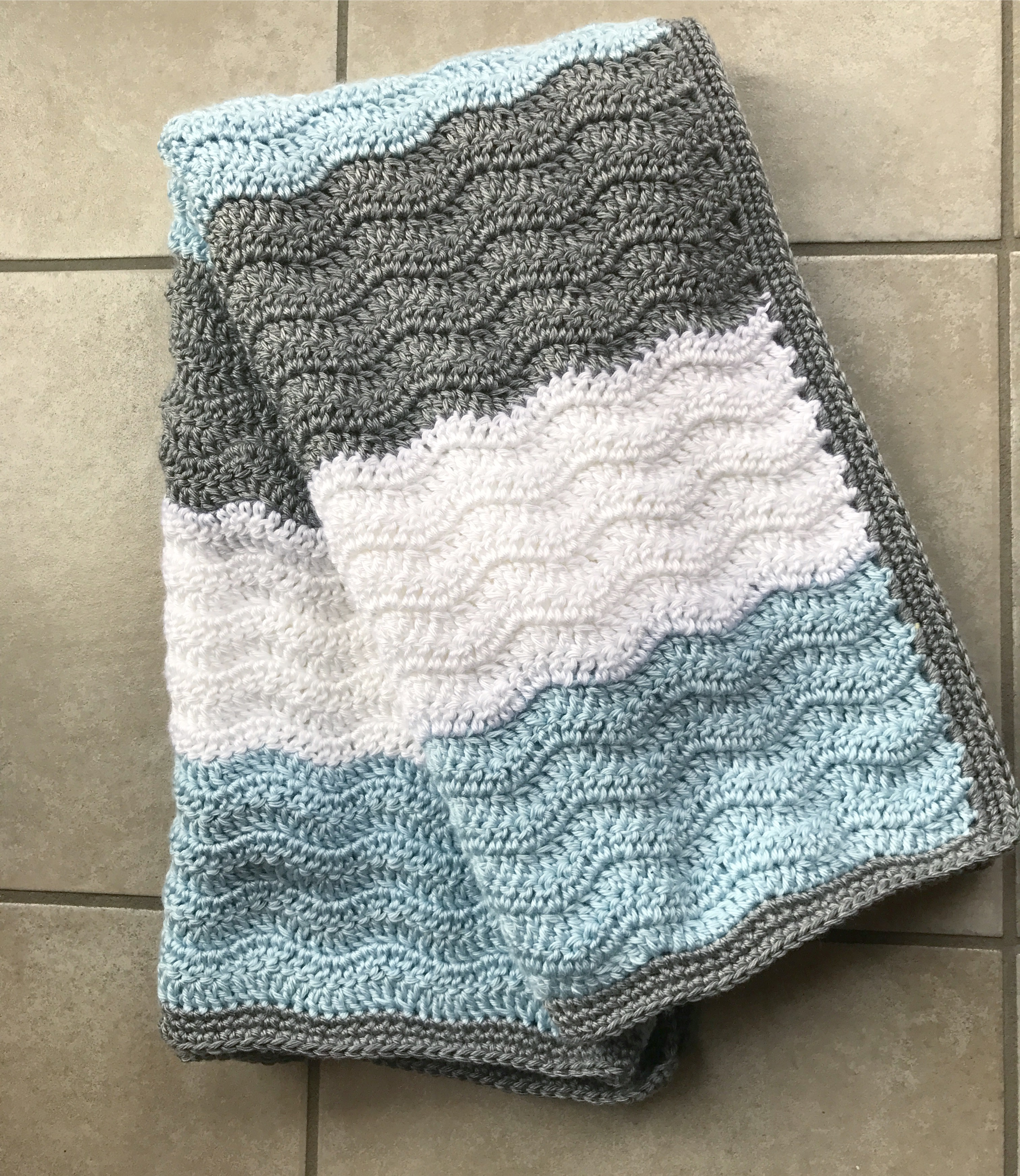 Crochet Chevron Baby Blanket Creating Me