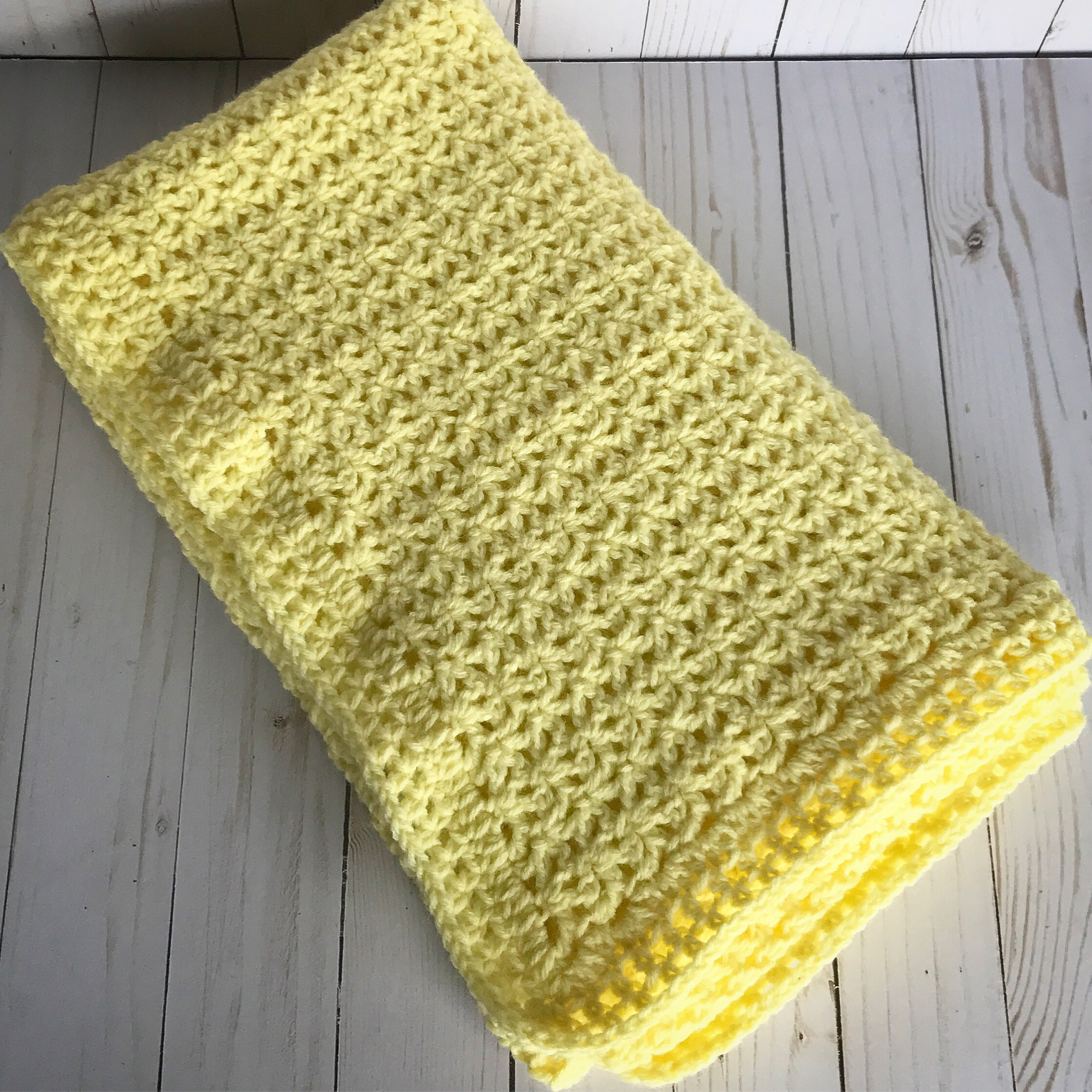 Crochet V Stitch Baby Blanket Creating Me