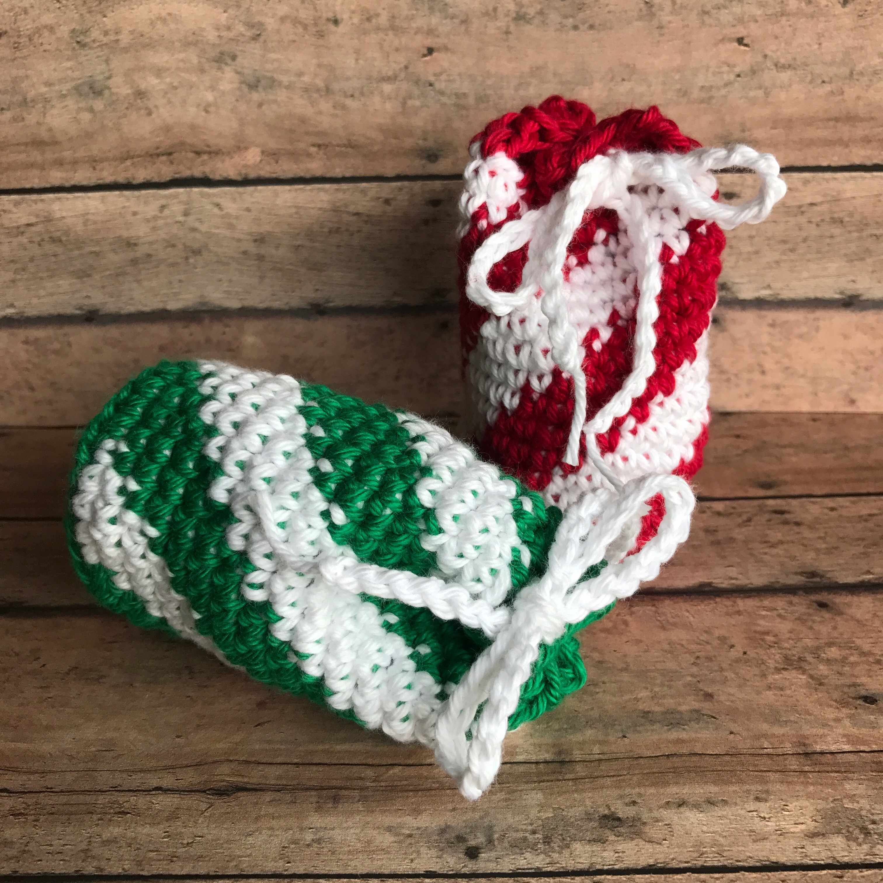 Crochet Candy Cane Bag For Gift Cards Creating Me