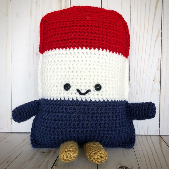 Crochet Patriotic Cuddle Buddy Creating Me