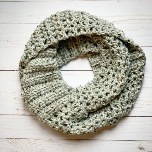 Chunky Crochet Infinity Scarf Creating Me